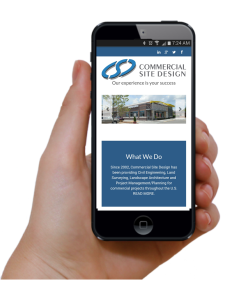 construction responsive website